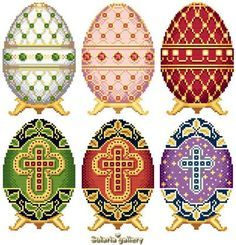 click here to view larger image of Easter Eggs in Faberge Style - Collection 1 (chart)