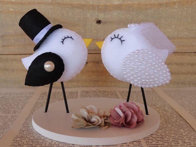 Arte Biju by Vanessa: Casamento - topo de bolo novo!!!! www.artebiju.elo7.com.br