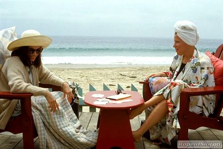 "Beaches ~ Bette Midler ""I've got a long memory"" .... Barbara Hershey ""I'm counting on it""."