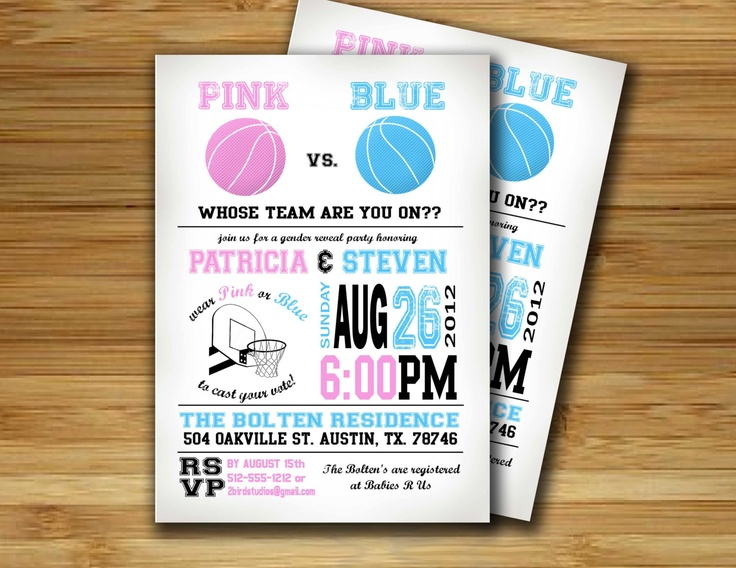 19 best images about gender reveal party on pinterest | gender, Baby shower invitations