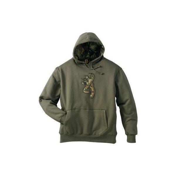 Browning Camo Buckmark Hoodie ($50) ❤ liked on Polyvore featuring tops, hoodies, jackets, camouflage hoodies, camo top, camouflage hoodie, camouflage hooded sweatshirt and sweatshirt hoodies