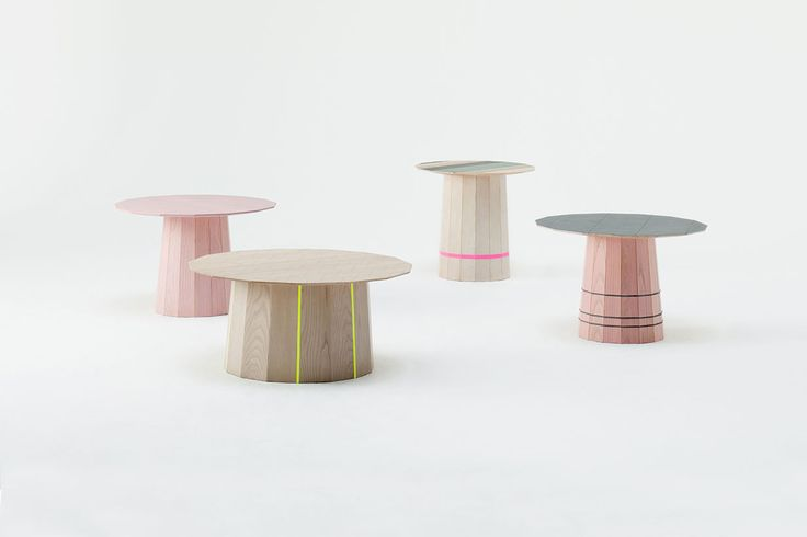 Colour Wood Coffee & Side Tables by Scholten & Baijings for Karimoku New Standard. Available from Stylecraft.com.au