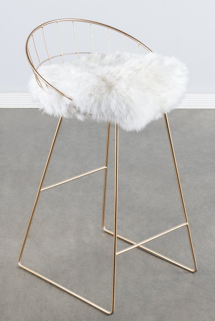 T414fur Kylie Sheepksin Bar Counter Chair 2019 바 의자