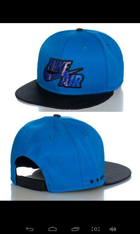 NIKE NIKE AIR logo snapback cap Embroidered logo lettering on front  Adjustable strap on back of hat .