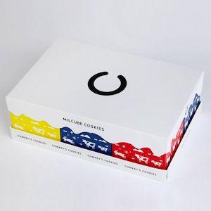 【ミルクキューブクッキーギフトボックスは組み合わせ楽しい、パッケージがカラフル】   パッケージを売らないパッケージ屋 パッケージ松浦