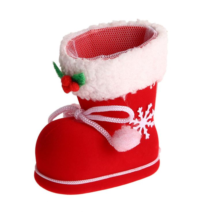 2 Sizes Christmas Boots Flocking Boots Socks Creative Gift Box of Candy Decorative Red Boots Christmas Decorations for Home #clothing,#shoes,#jewelry,#women,#men,#hats,#watches,#belts,#fashion,#style