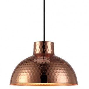 Miedziana lampa wisząca Hammer- DOSTĘPNA OD RĘKI