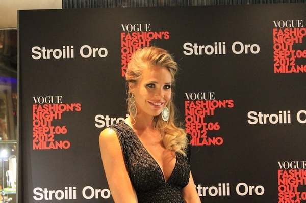 Vogue Fashion's Night Out 2012: Ilary Blasi