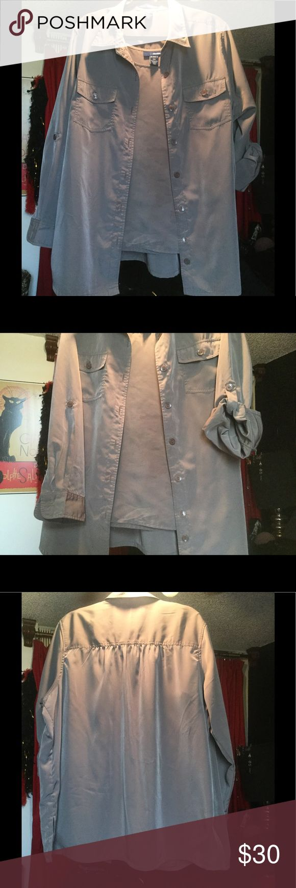 """💥 TAUPE 2 PC SET . . . JACKET & TOP . . . """" NWOT """" TAUPE TOP & JACKET BOUGHT SEPARATELY TO MAKE A STUNNING OUTFIT . . . FOR EITHER DAY OR NIGHT . . .  100% SOFT POLYESTER . . . BEING A CLOTHES HORSE, I BOUGHT 3 DIFFERENT COLORS, THEN STYLE & WEIGHT CHANGED, NOW ITS TIME FOR ANOTHER OWNER TO REAP THE GOODS . . . CAN BE DRESSED UP OR DOWN DEPENDING ON ACCESSORIES . . . ROMANS 24/7 Other"""