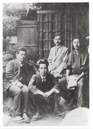 左から菊池寛、芥川龍之介、武藤長蔵、永見徳太郎 -- Akutagawa Ryunosuke (second from the left)
