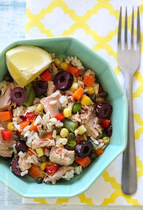 Summer Salads Italian Tuna and Brown Rice Salad (Riso e Tonno) | Skinnytaste