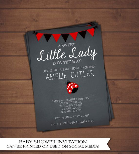 Ladybug baby shower ideas - Lady Bug Baby Shower Invitation by CindysEventCreations on Etsy