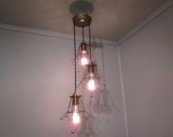 Vintage Rustic Bar Light  Kitchen Island Light by VintageIronworks