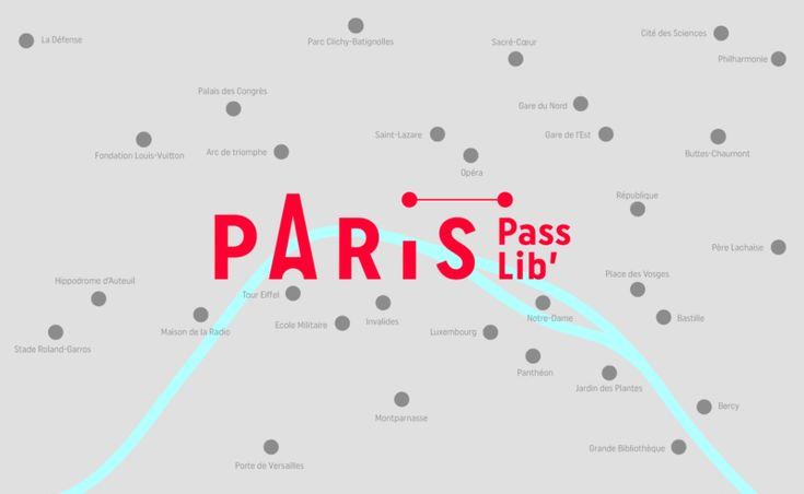 B-01-paris-pass-lib-map-graphic-design B-01-paris-pass-lib-editorial-design Branding Paris Logo design minimal illustrations colors fresh map minimalist flat