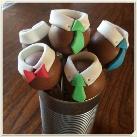 Tie themed cakepops. Made by The Dotted Apron Bloemfontein. https://m.facebook.com/profile.php?id=703914623013978&refsrc=https%3A%2F%2Fwww.facebook.com%2Fpages%2FThe-Dotted-Apron%2F703914623013978