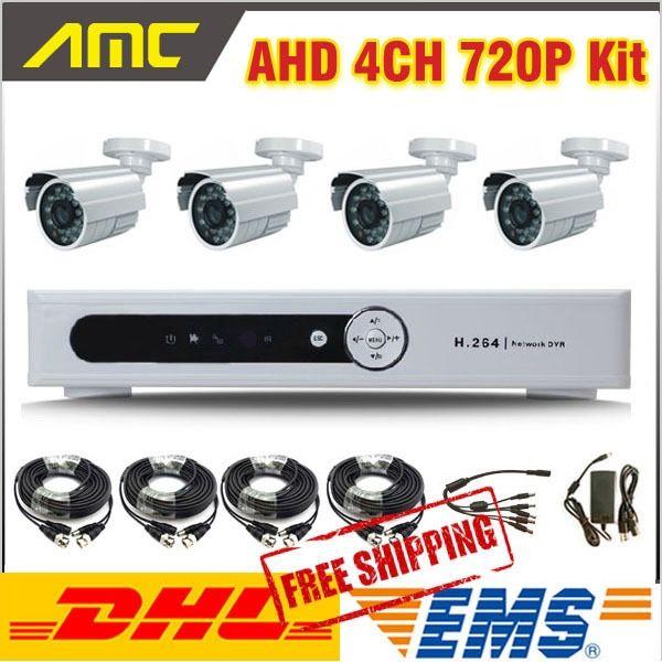 (228.99$)  Buy here  - New AHD Hybrid DVR System 4ch 720P DVR Camera CCTV System 4ch Channel CCTV Kit Home video surveillance DVR Security system