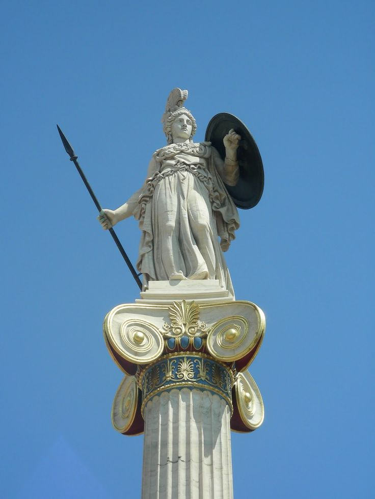 Grèce - Athènes, Statue d'Athéna déesse de la guerre et de la sagesse