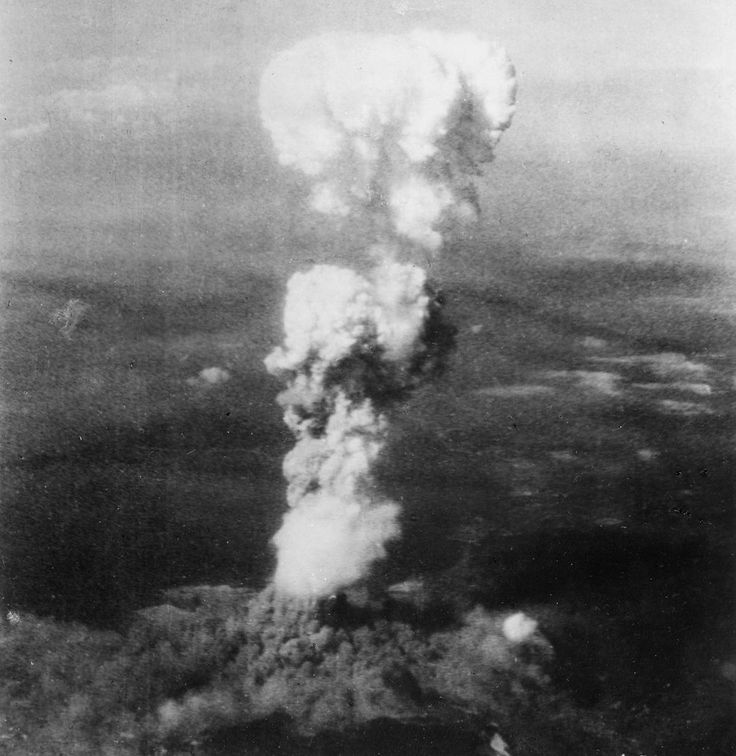 """The U.S. B-29 Superfortress bomber """"Enola Gay""""; took off from Tinian Island very early on the morning of August 6th, carrying """"Little Boy"""", a 4,000 kg (8,900 lb) uranium bomb...."""