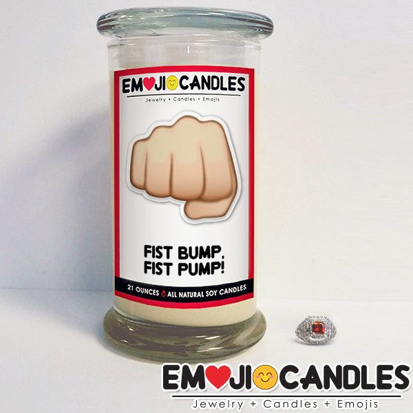 Fist Bump, Fist Pump! - Emoji Candles - The Official Website of Jewelry Candles - Find Jewelry In Candles!