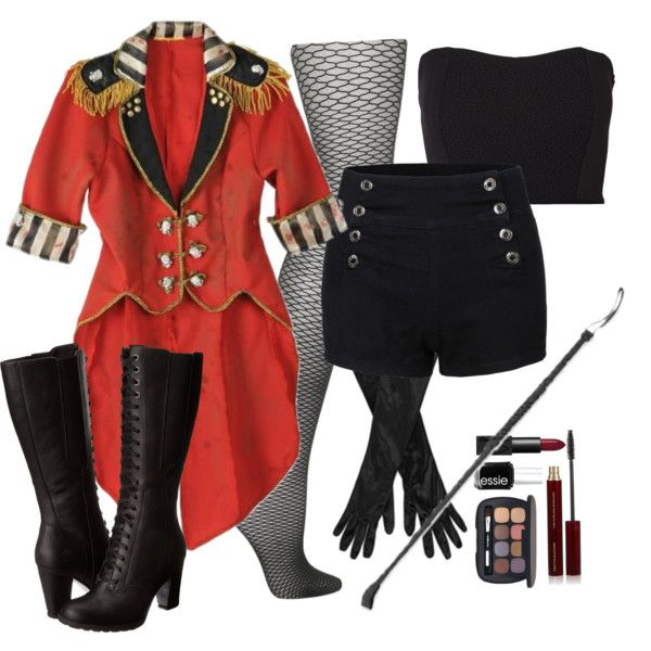 Halloween 4 - Freak Show Ringmaster by averydane on Polyvore featuring Vero Moda, Topshop, Timberland, John Lewis, Bare Escentuals, Kevyn Aucoin, NARS Cosmetics, Essie, women's clothing and women's fashion