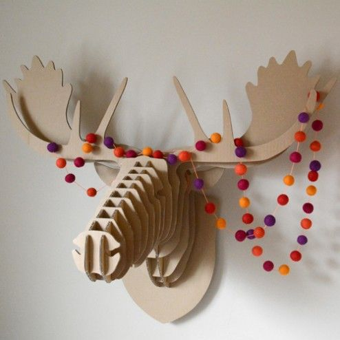 1000 ideas about cardboard deer heads on pinterest diy cardboard paper mache and papier mache - Cardboard moosehead ...