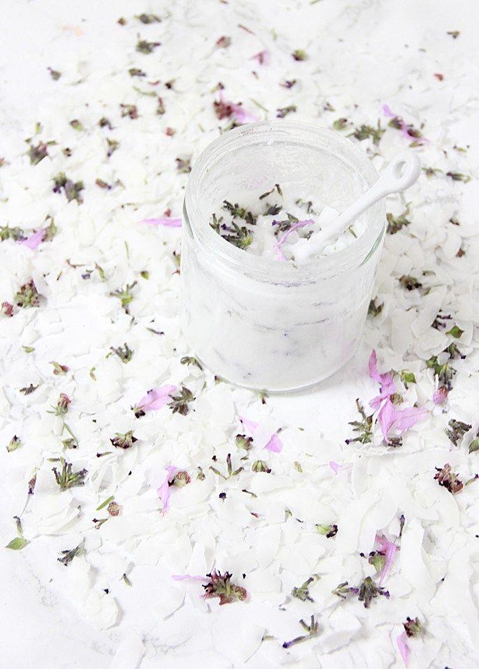 DIY Coconut Lavender Sugar Scrub | Natural solutions