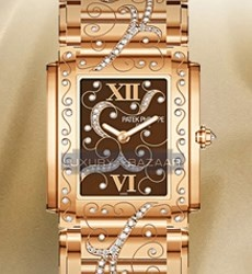 Patek Philippe Ladies Twenty-4 (RG-Diamonds / Brown / RG Bracelet)