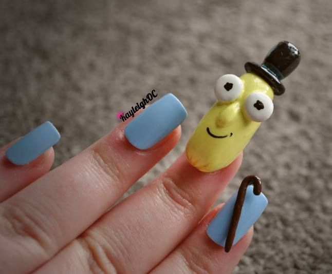 Mr Poopybutthole from Rick And Morty - Nail Art