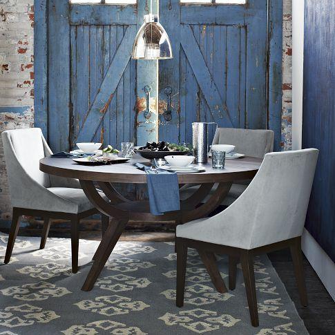 Arc Base Pedestal Table | west elm: Dining Rooms, Westelm, Dining Table, Pedestal Tables, Kitchen Table, West Elm, Arc Base
