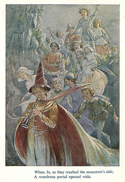 Margaret W. Tarrant - The Pied Piper of Hamelin - Portal    Small cloth bound book published by J. M. Dent in 1928 - this is a 1969 reprint