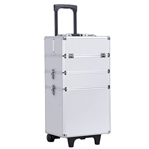Songmics® 4-in-1 Valise cadre en Aluminium boîte à maquillage/outils, Beauty Case Trolley Maquillage Coiffure Nail Cosmetic JHZ01S: Tweet…