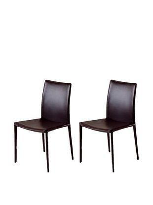 50% OFF Onyx Set of 2 Lima Chairs, Brown