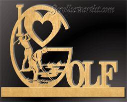 Golf Scroll Saw Patterns | love Golf on base