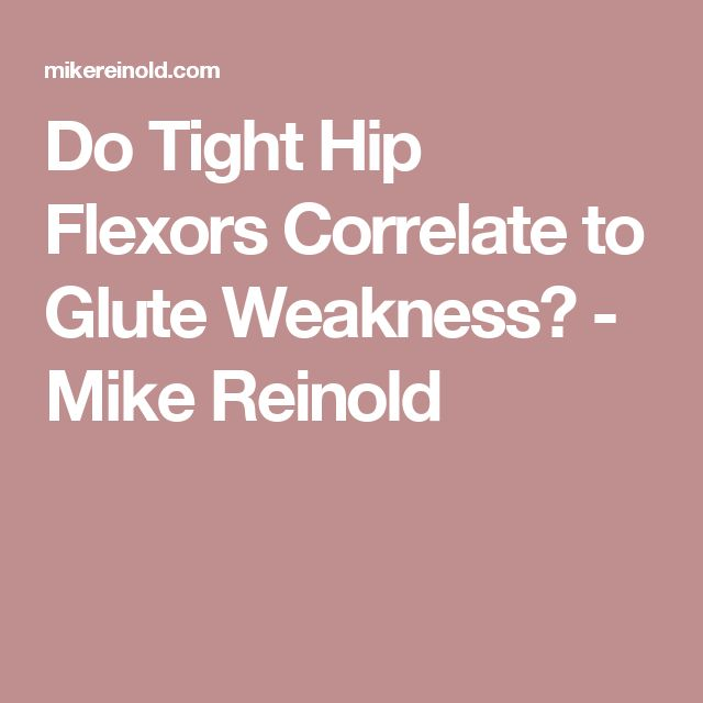 18 best physical therapy images on pinterest athletic training do tight hip flexors correlate to glute weakness mike reinold fandeluxe Gallery