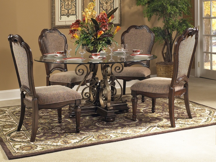 Fairmont designs wellingsley dining room set upholstered for Fairmont designs dining room