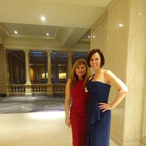 Shannon Oxridge gala with Tara