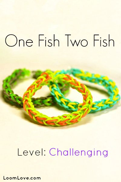 How to Make the One Fish Two Fish Rainbow Loom Bracelet