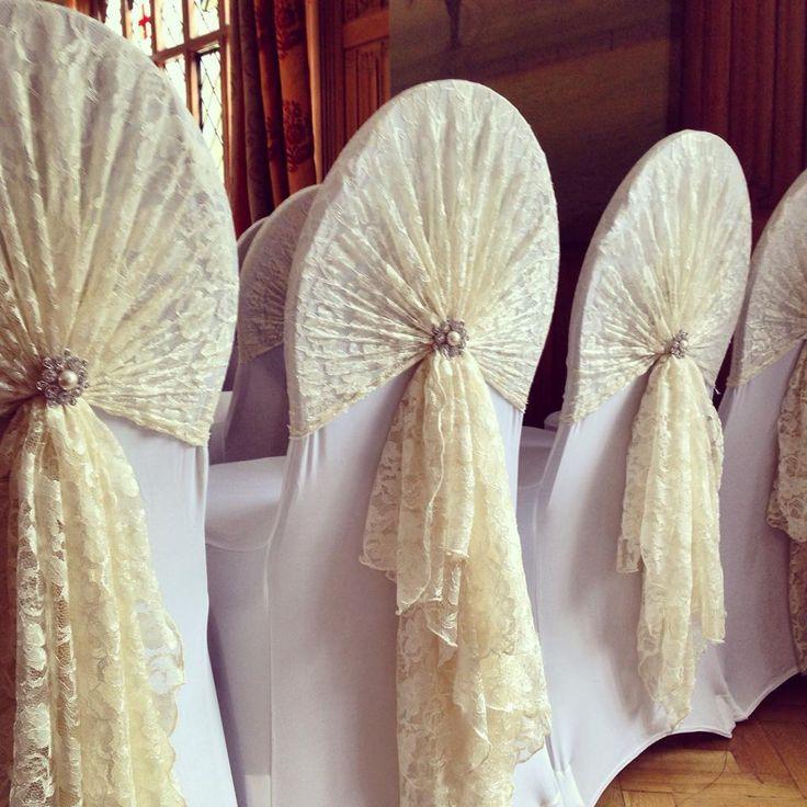 Love! Vintage lace ivory hoods.