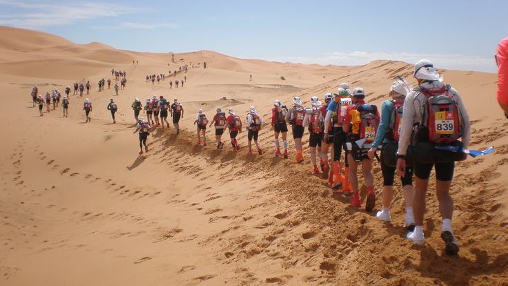 Marathon De Sables , the most strenuous on foot marathon across the desert... bucket list item to do ONLY when fit