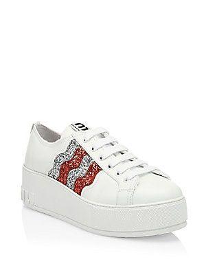 Miu Miu Glitter Wave Platform Sneakers I Want To Put On My My My