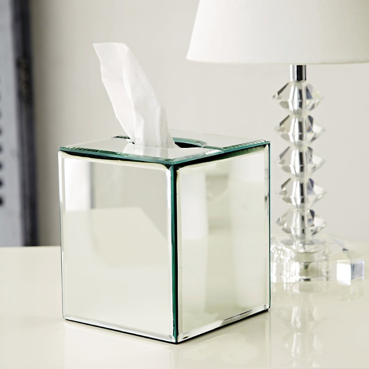tissue box-make out of glass instead of mirror-also like candle box