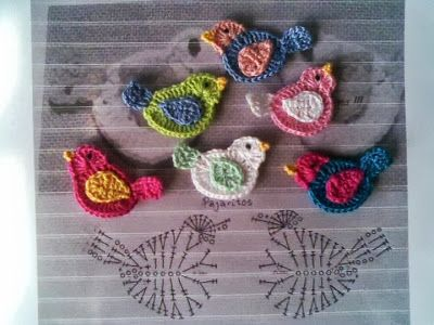 Crochet...Gotta Love It! Blog: Cute Little Birdie Bird Motifs!!