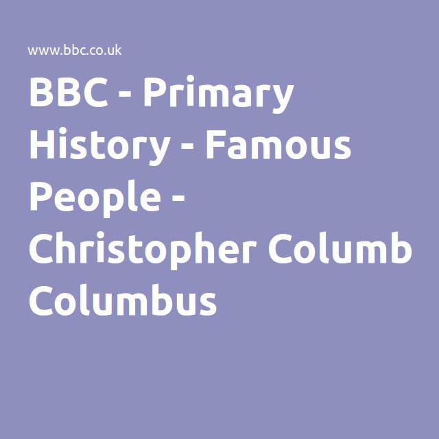 BBC - Primary History - Famous People - Christopher Columbus - Game and Quiz