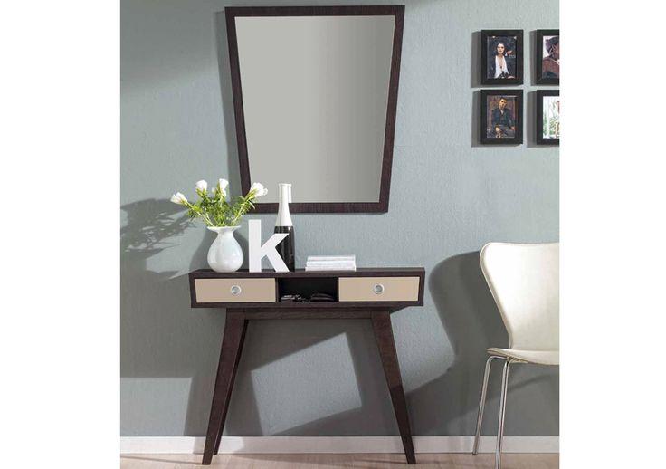 Fantástico recibidor de estilo vintage con marco espejo incluido