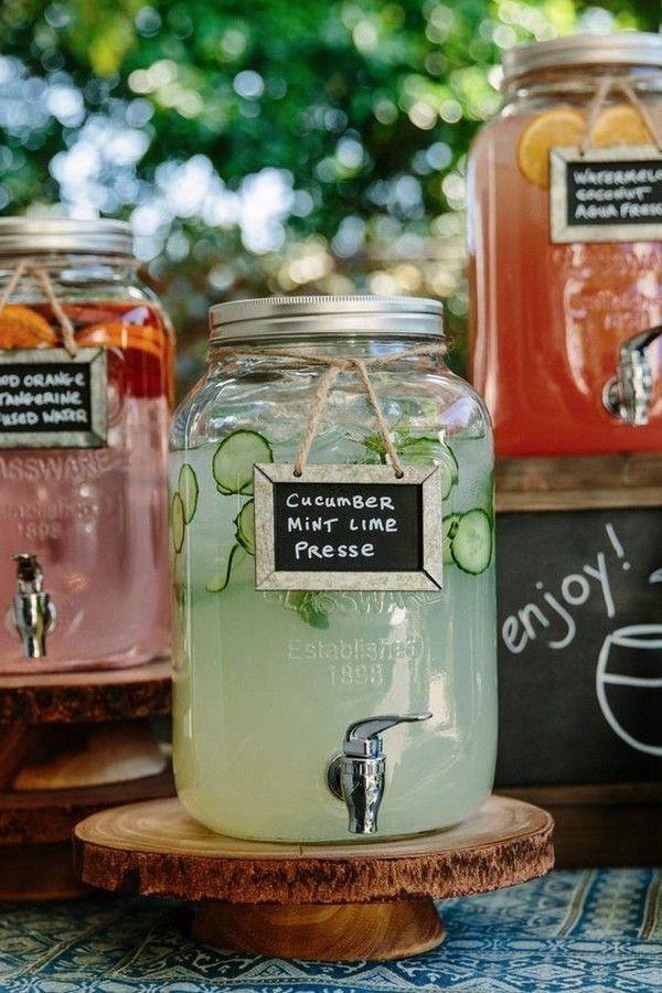 DIY Selbstbedienung Drink Bar für Hochzeitsideen im Freien #weddingfavorsoutdoorwedding   – Unique Wedding Favors