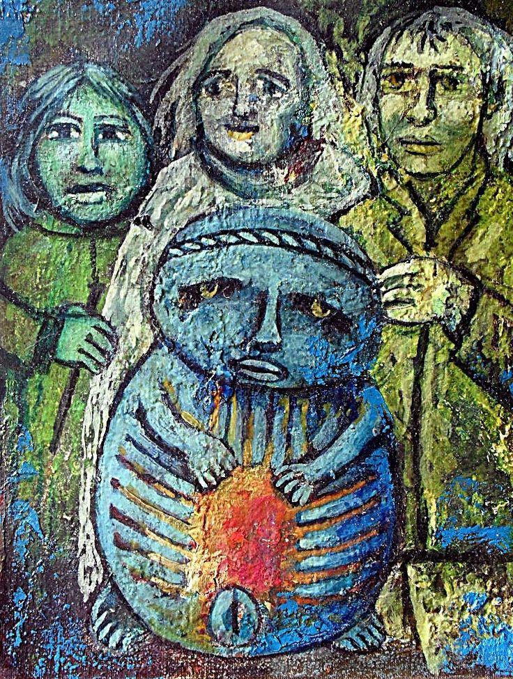Oleo sobre tela.2013. Antropologia cultural. 7-de la serie Yurupary Oca.