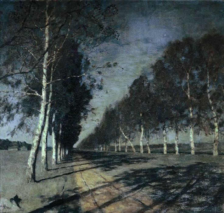 Moonlit Night. A Village., 1888 - Isaac Levitan -