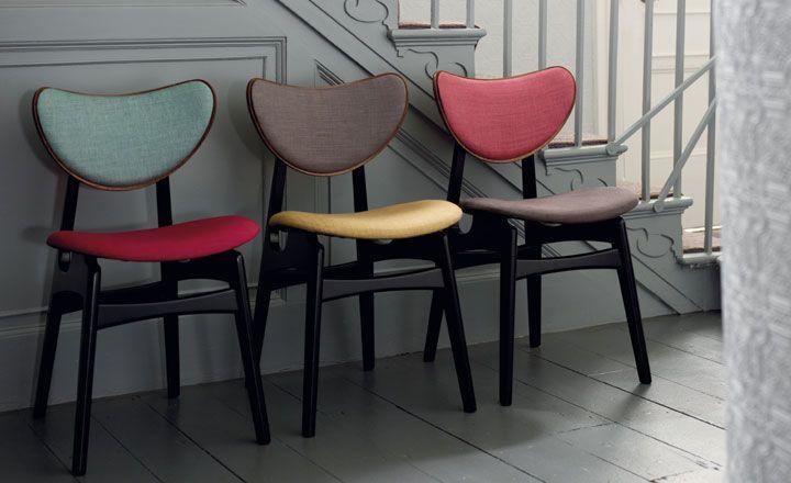 Avignon - Textured Weave - Villa Nova, www.villanova.co.uk. Freshen up retro chairs
