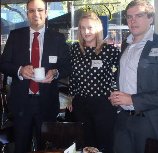 Some of the Centra Wealth team attending a networking breakfast