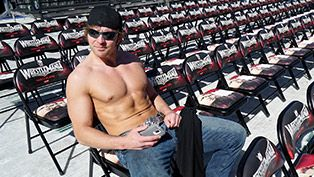 Dean Ambrose getting ready for Wrestlemania 31 :)
